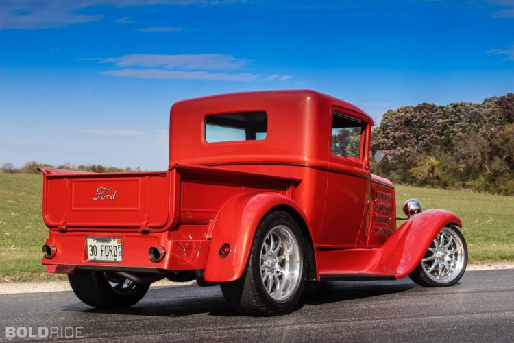 1930 Ford Model-A Pickup model custom hot rod rods retro truck trucks q wallpaper