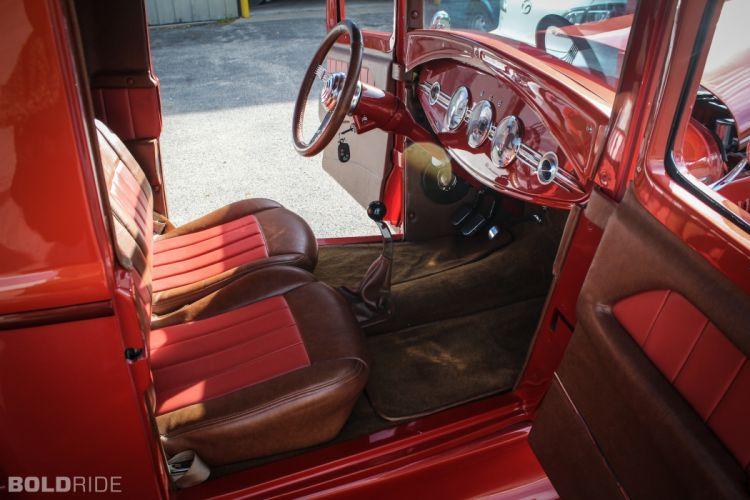 1930 Ford Model A Pickup Model Custom Hot Rod Rods Retro