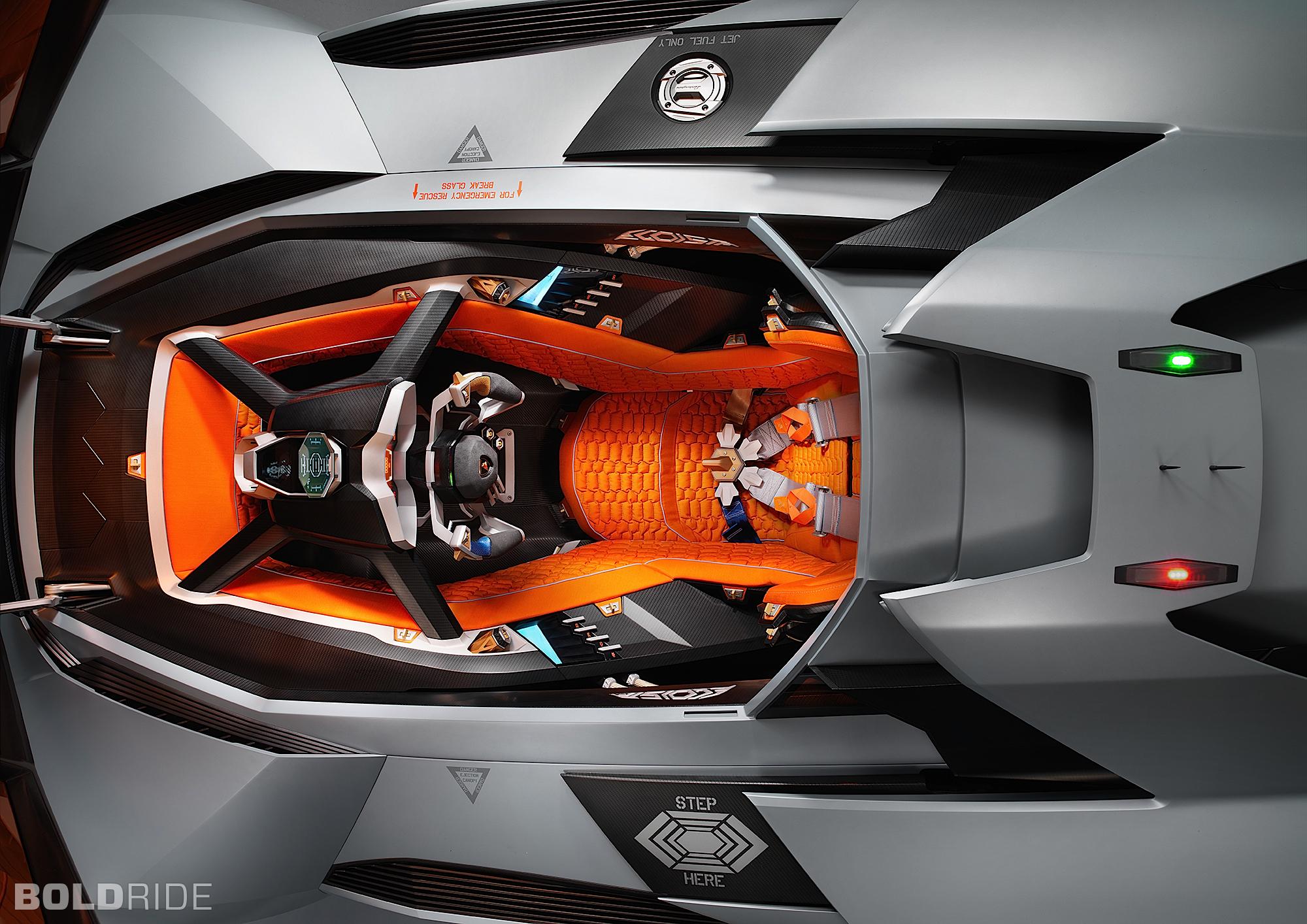 Lamborghini Egoista Concept Supercar Supercars Interior E
