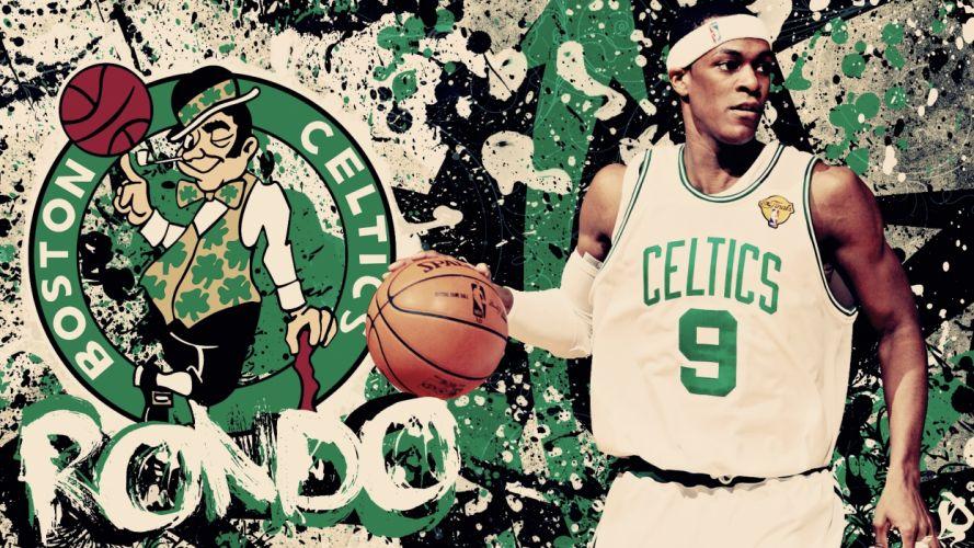 abstract nba basketball boston celtics rajon rondo wallpaper