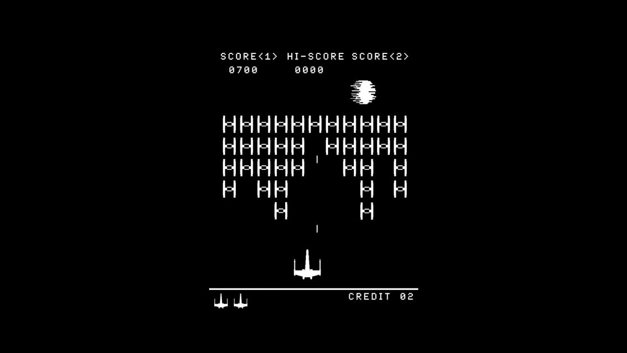 abstract star wars arcade death star video space invaders atari solid simplistic simple wallpaper