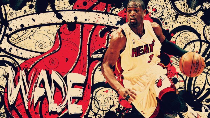 abstract nba basketball dwyane wade miami heat wallpaper