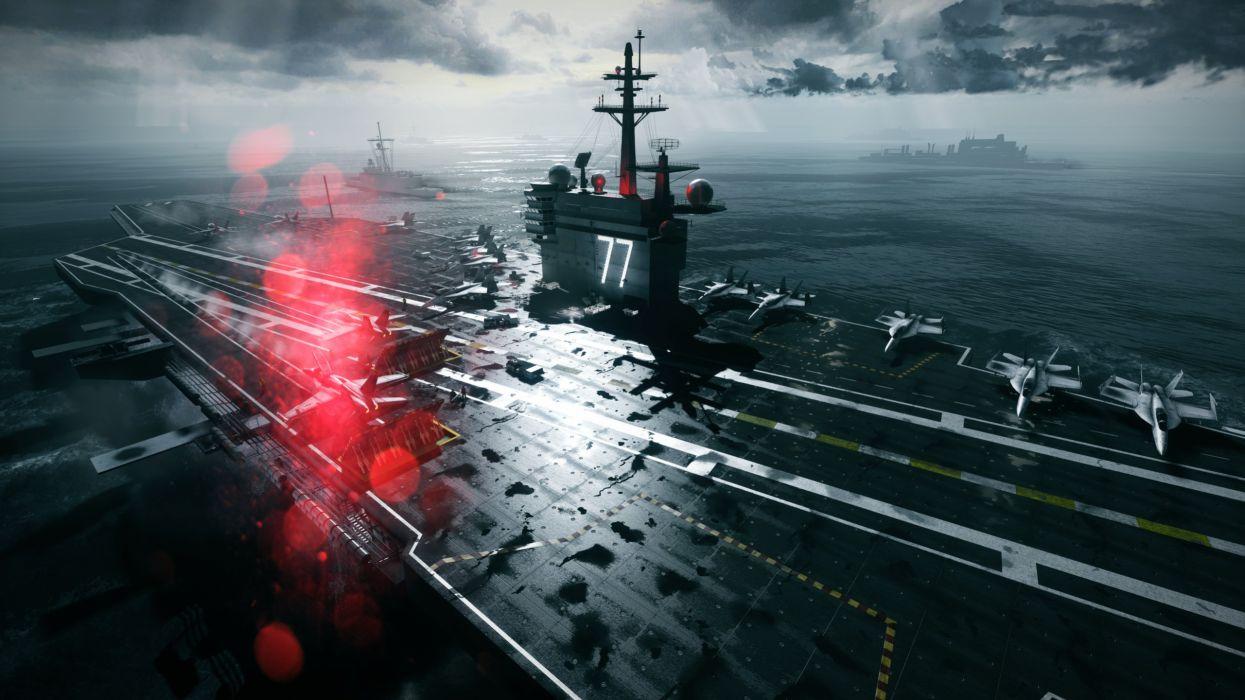 Battlefield Aircraft Carrier military ship ships sea ocean weapons wallpaper