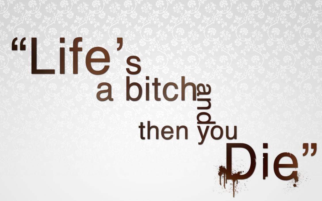 death text quotes typography sadic blood humor dark wallpaper