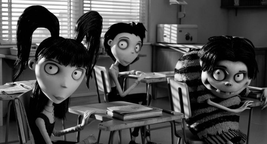 Frankenweenie 2012 dark horror cartoons creepy q wallpaper
