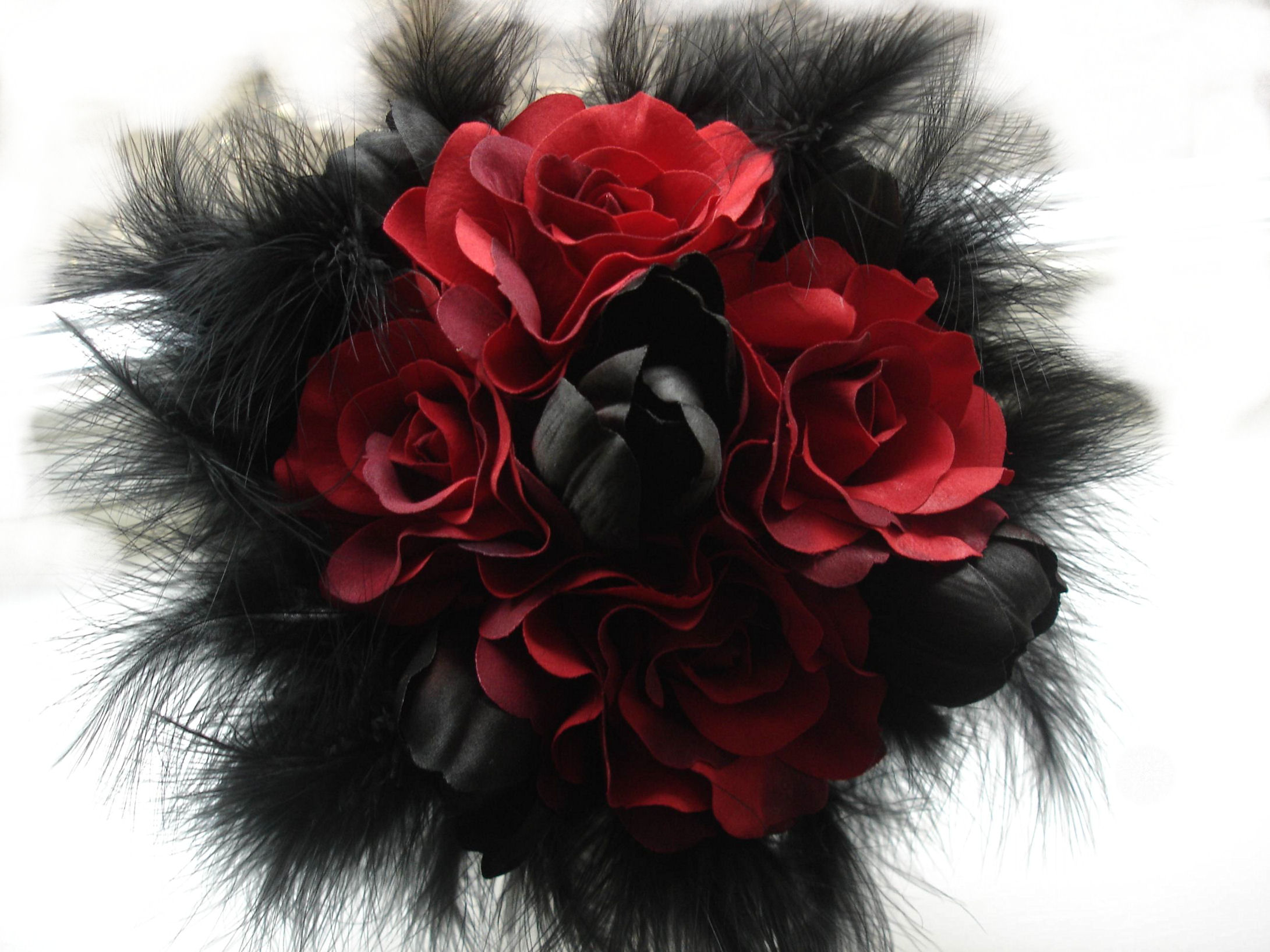 Gothic Rose Red Black Flower Beautiful Hd Wallpaper