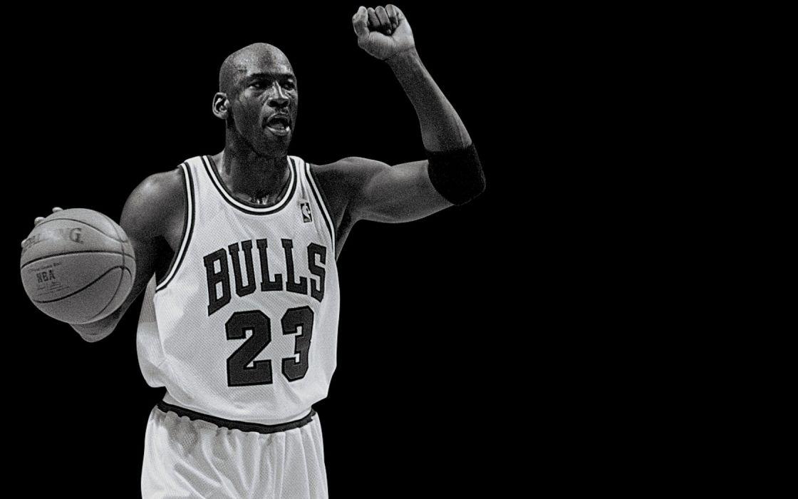 Grayscale Nba Basketball Michael Jordan Chicago Bulls Wallpaper