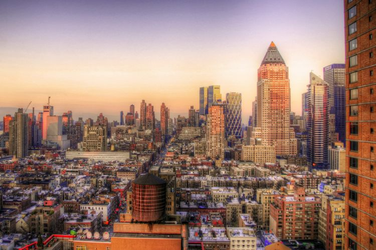 Houses New York City HDR Cities wallpaper