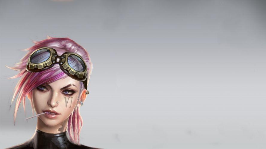 League of Legends Face Drawing girl girls goggles tattoo tattoos wallpaper