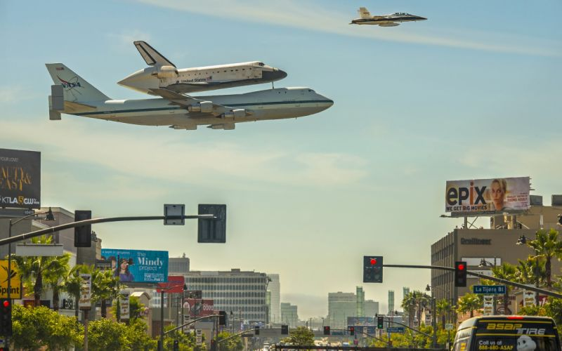 Shuttle Jet Airplane Plane Los Angeles jets nasa city cities roads wallpaper