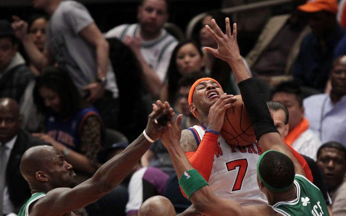 sports nba basketball kevin garnett paul pierce boston celtics new york knicks ray allen carmelo wallpaper
