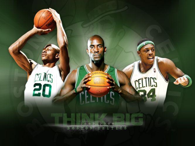 sports nba basketball kevin garnett paul pierce boston celtics ray allen wallpaper