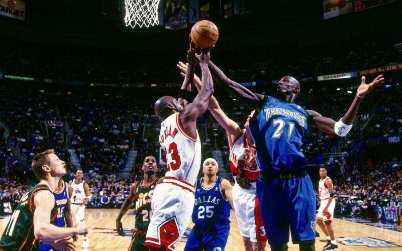 sports nba basketball michael jordan kevin garnett chicago bulls minnesota timberwolves wallpaper