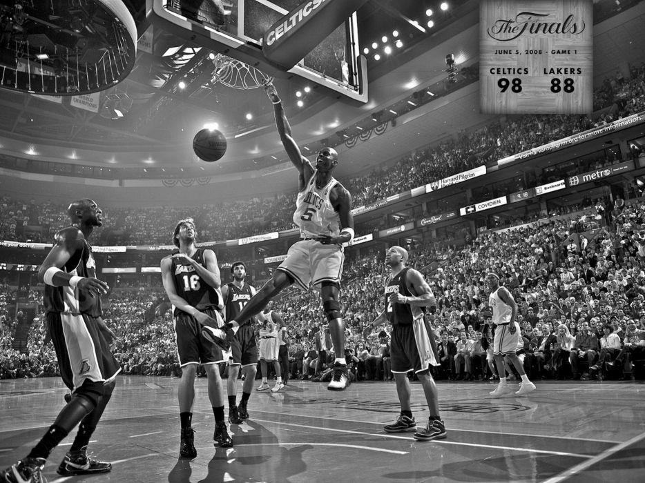sports nba basketball monochrome los angeles lakers boston celtics wallpaper