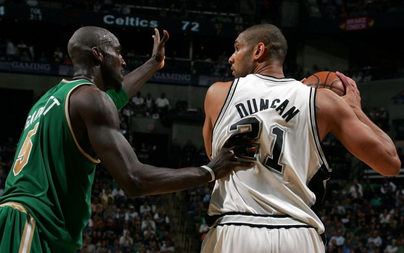 sports nba basketball san antonio spurs kevin garnett boston celtics tim duncan wallpaper