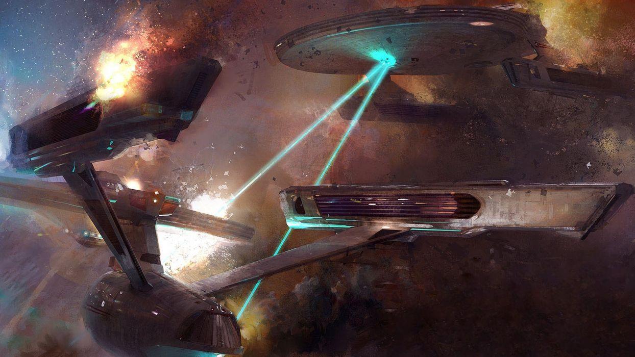 star trek space combat james t kirk uss enterprise uss reliant space stars nebula battle battles spaceships spaceship wallpaper