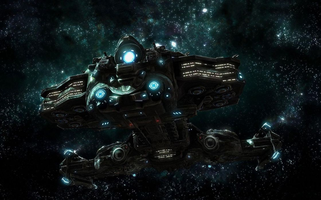 starcraft pc spacescape science fiction sci-fi spaceship spaceships wallpaper