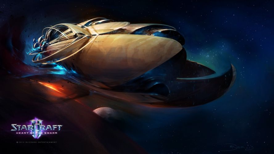 StarCraft Spaceship Drawing sci-fi spaceships wallpaper