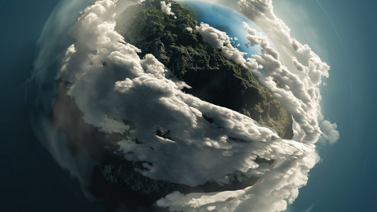 Stereographic Clouds Planet planets space atmosphere wallpaper