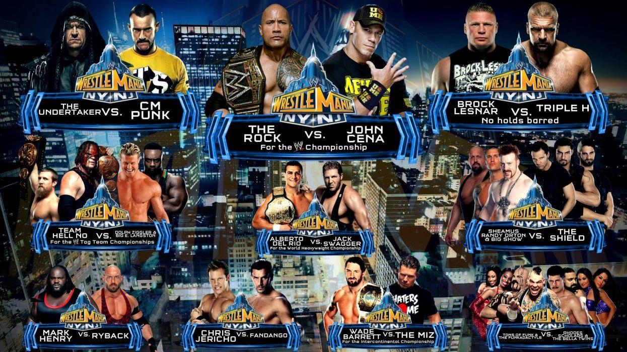 Wwe Wrestlemania Wrestling Wrestle Poster Posters W Wallpaper 2560x1440 85540 Wallpaperup