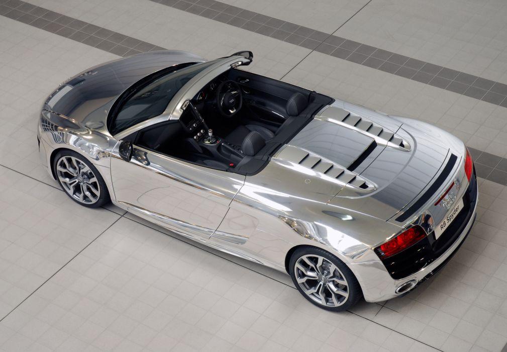 2011 Audi R8 V10 Spyder Chrome q wallpaper