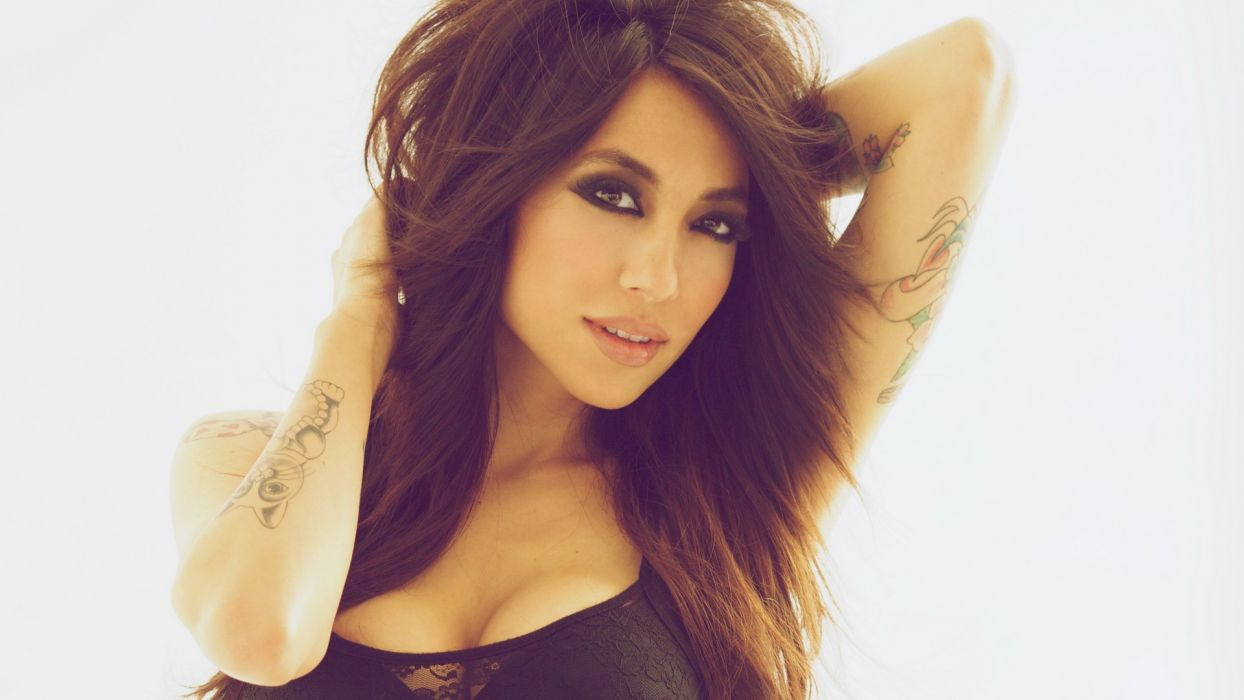 Alie Layus Brunette Tattoos tattoo  s wallpaper