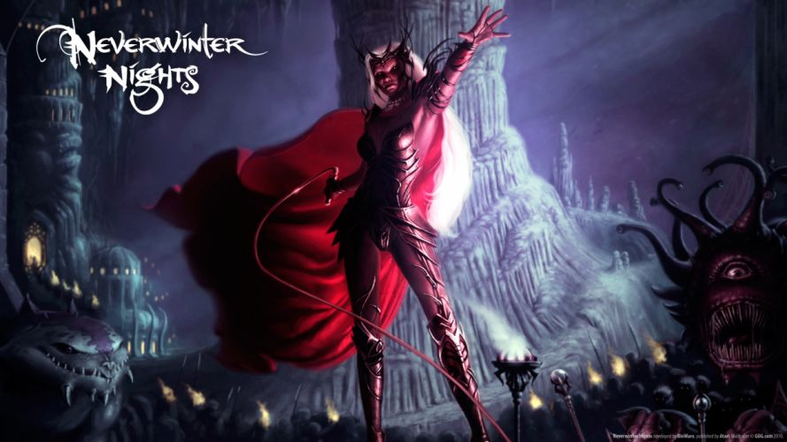 Neverwinter Nights fantasy demon demons wallpaper