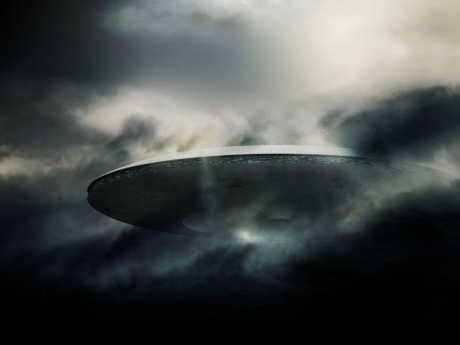 Spaceship Clouds ufo alien aliens spaceships wallpaper