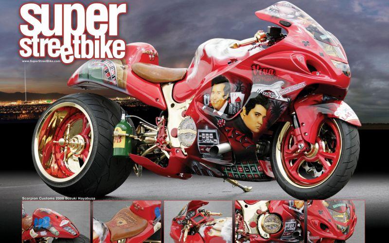 suzuki hayabusa sportbike superbike tuning music wallpaper