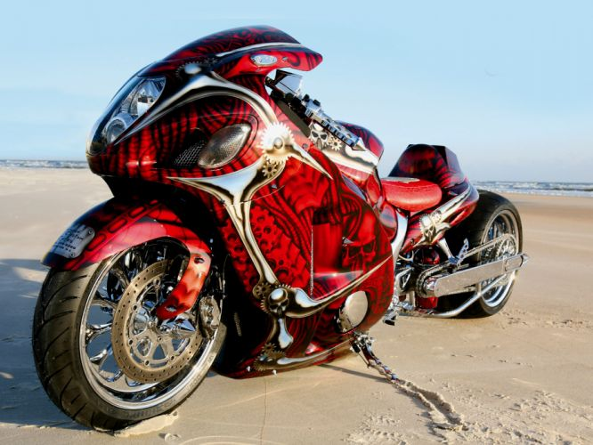 suzuki hayabusa sportbike superbike tuning wallpaper