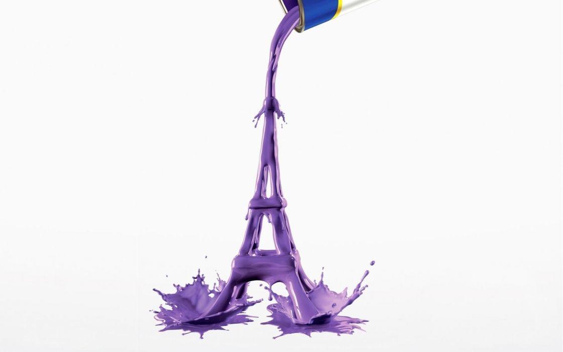 Eiffel-Tower-Paint-Pigment-Art wallpaper