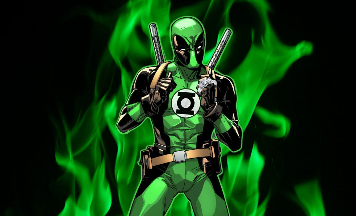 Green Lantern dc-comics superhero deadpool wallpaper