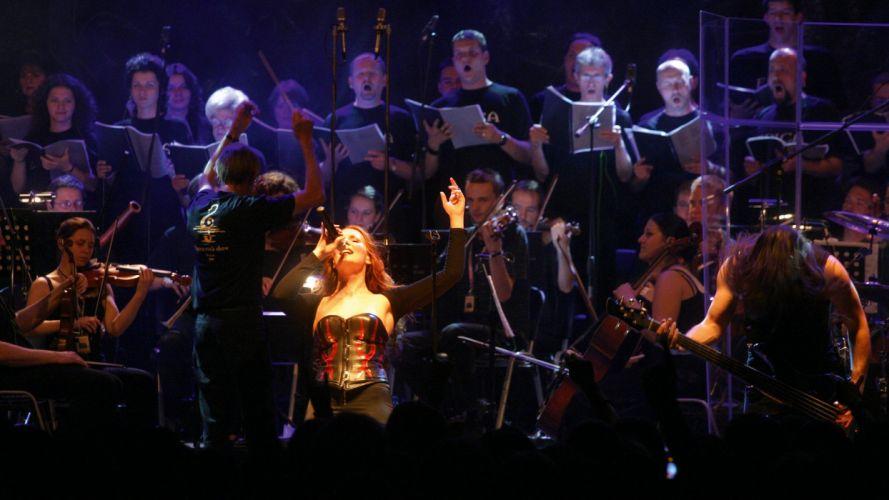 EPICA Simone Simons power metal heavy hard rock concert concerts w wallpaper