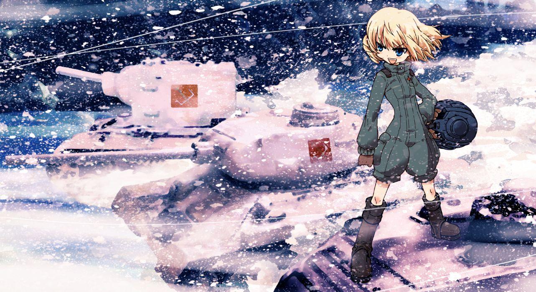 girls und panzer katyusha ningen plamo snow wallpaper