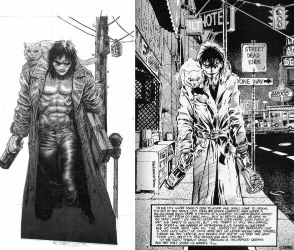 The-Crow crow dark comics movies v wallpaper