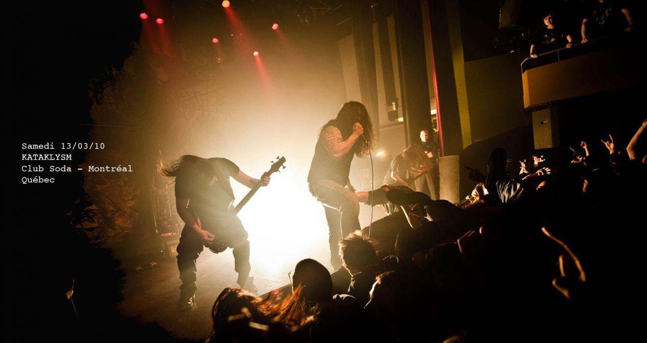 KATAKLYSM death metal heavy hard rock concert concerts crowd   d wallpaper