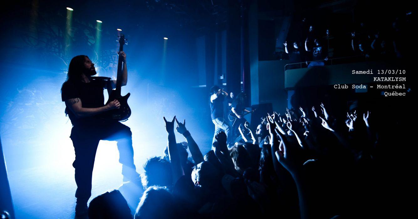 KATAKLYSM death metal heavy hard rock concert concerts crowd  a wallpaper