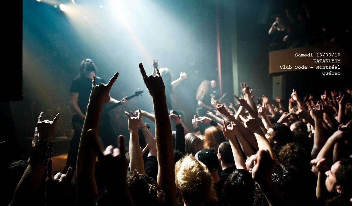 KATAKLYSM death metal heavy hard rock concert concerts crowd wallpaper