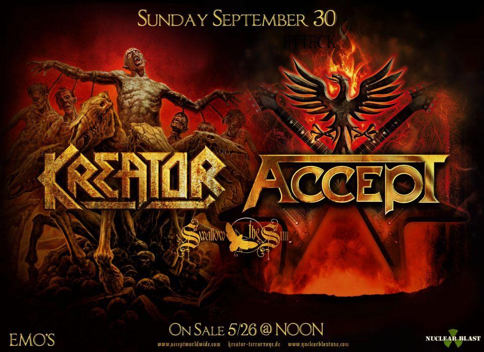 KREATOR ACCEPT thrash metal heavy hard rock poster posters concert concerts wallpaper