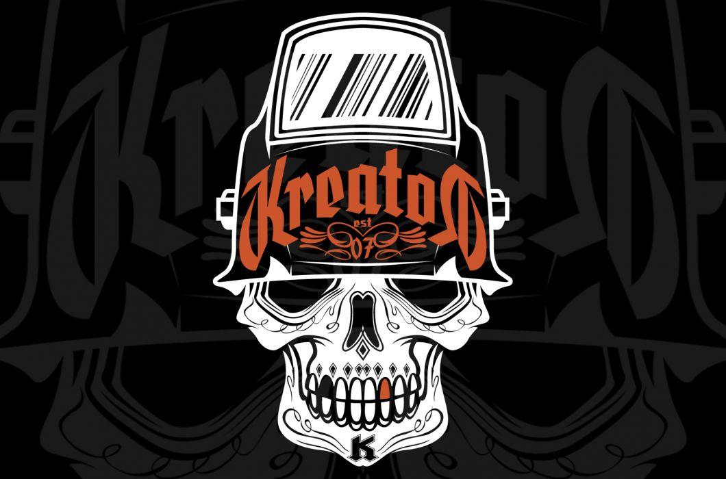 KREATOR thrash metal heavy hard rock skull skulls wallpaper