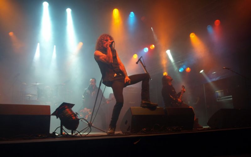 OVERKILL thrash metal heavy hard rock microphone guitar guitars concert concerts d wallpaper