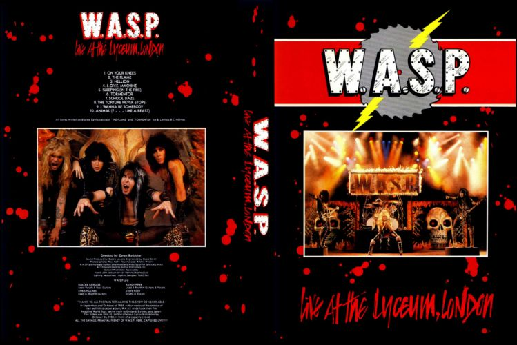 WASP heavy metal hard rock concert concerts poster posters wallpaper