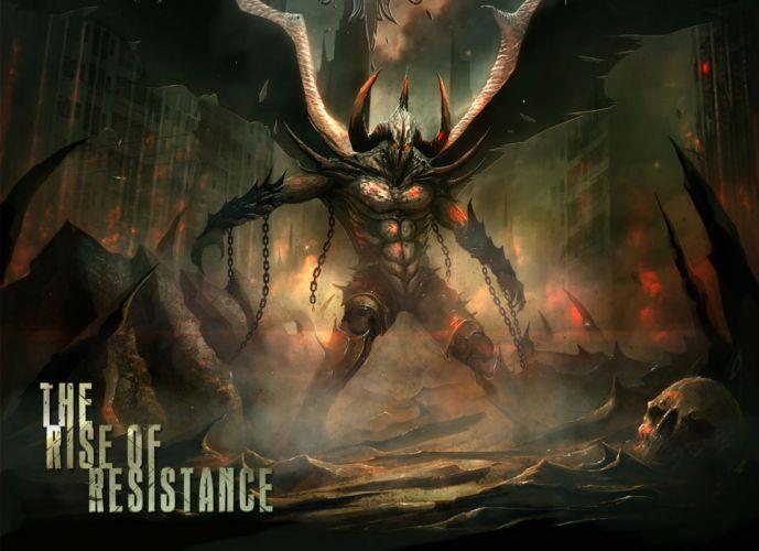 CIRCLE OF SILENCE power metal heavy dark demon demons skull skulls satan e wallpaper