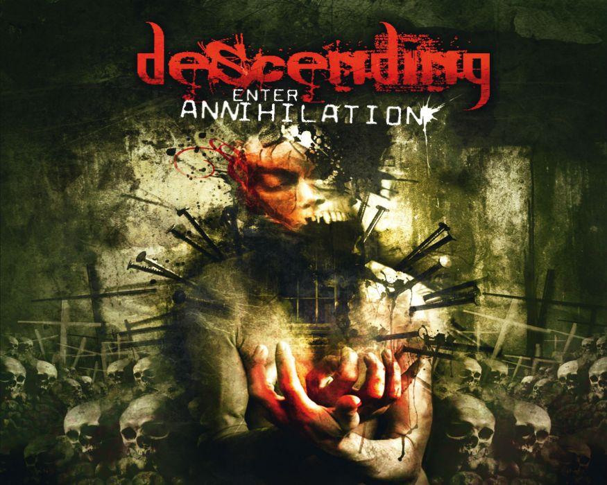 DESCENDING grindcore heavy metal  w wallpaper