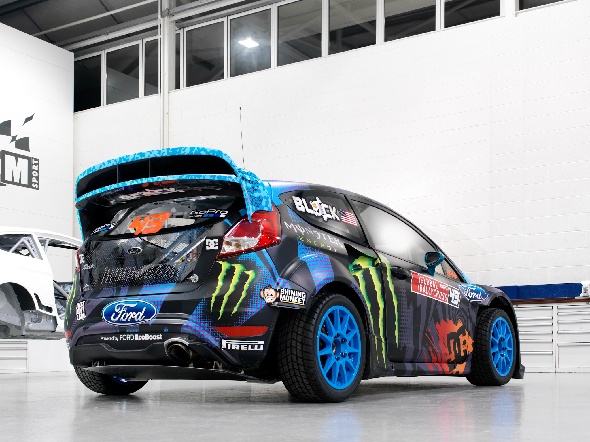 2013 ford fiesta s t rx43 rallycross race racing tuning r. Black Bedroom Furniture Sets. Home Design Ideas