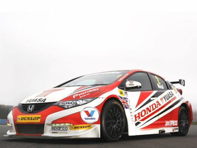 2013 Honda Civic BTCC race racing wallpaper