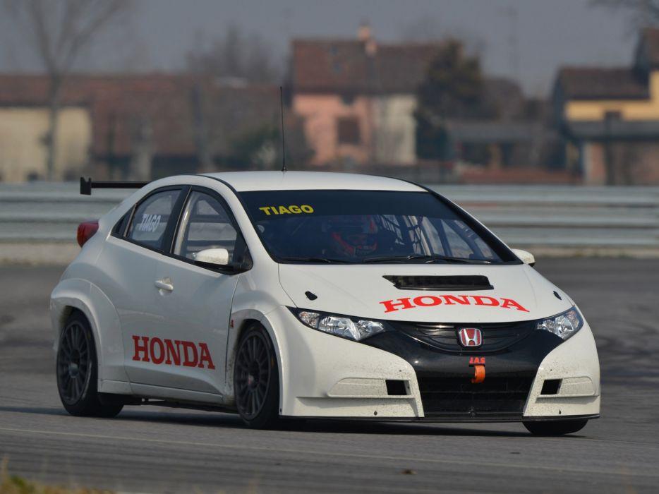 2013 Honda Civic WTCC race racing wallpaper