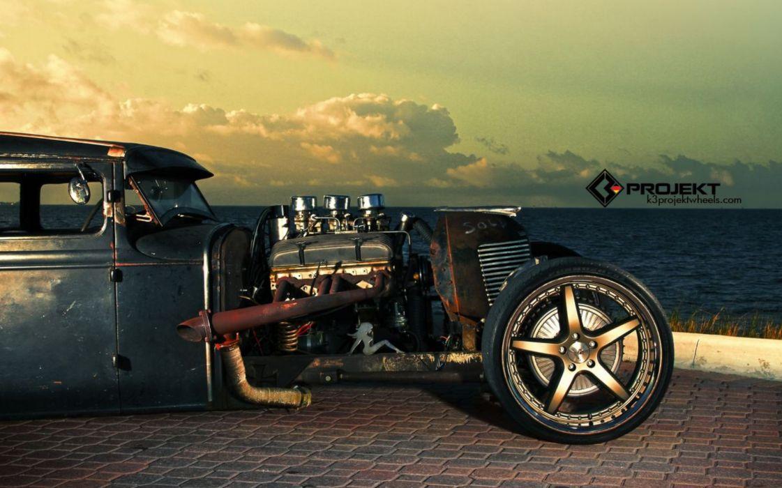 1931 K3 Projekt Ford Model T Rat Rod Hot Rods Retro Engine Engines Wheels