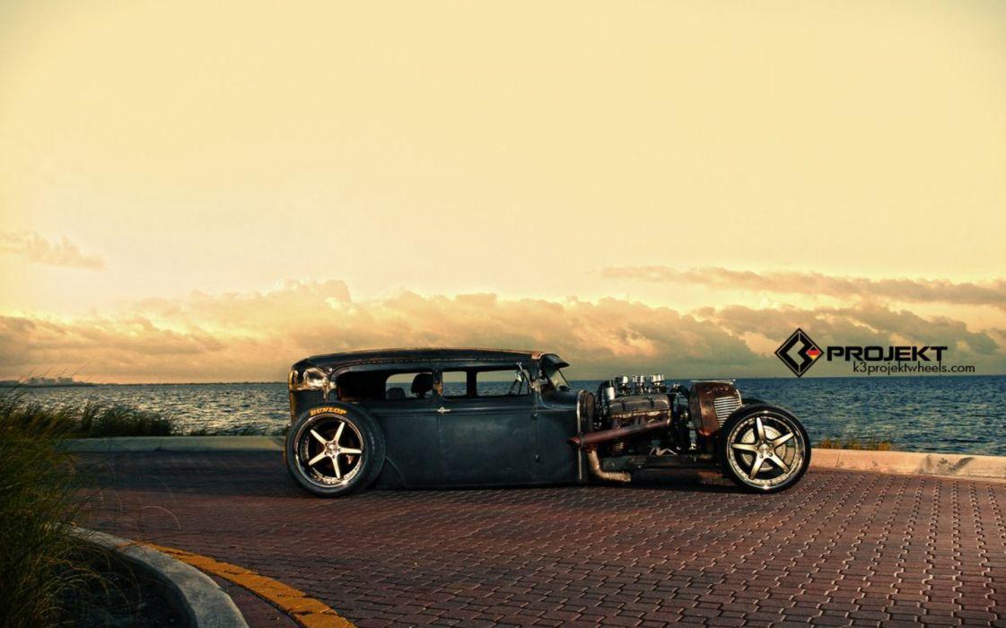 1931 K3-Projekt Ford Model-T rat rod hot rods retro engine engines wallpaper