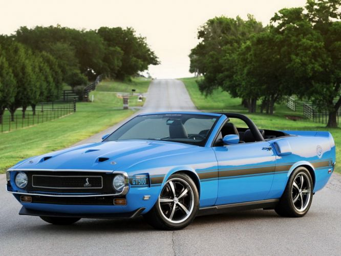 1969 Shelby Ford Mustang GT500 C- Convertible muscle classic hot rod rods wallpaper